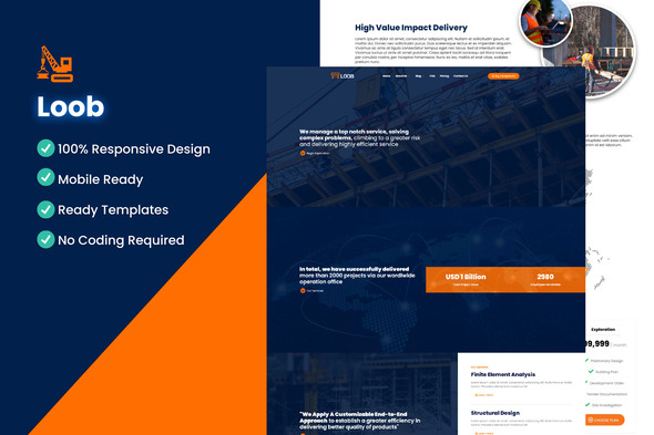 [Free Download] Loob – Engineering Elementor Template Kit (Nulled) [Latest Version]