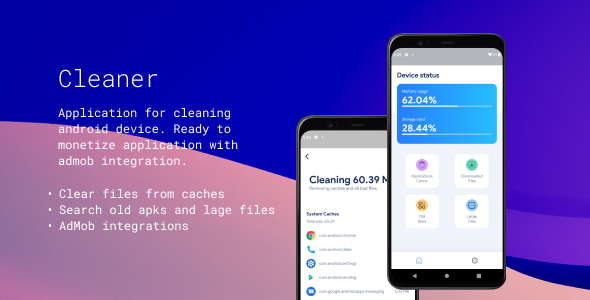 [Free Download] Cleaner – Full application – Ready to monetization (Nulled) [Latest Version]