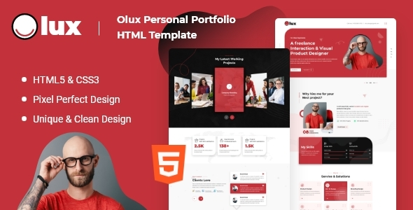 [Free Download] Olux – Creative Personal CV/Resume Portfolio HTML Template (Nulled) [Latest Version]