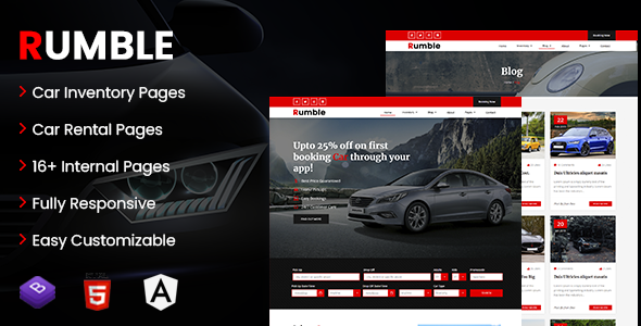 [Free Download] Rumble – Car Rental Booking Angular Template (Nulled) [Latest Version]