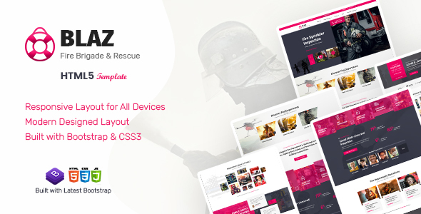 [Free Download] Blaz – Fire Brigade HTML Template (Nulled) [Latest Version]