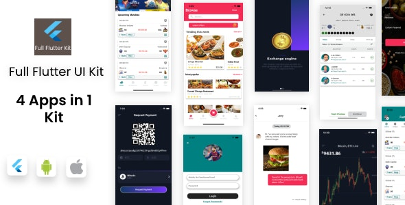 [Free Download] MEGA FLUTTER Combo UI kit – 4 apps in 1 Template (Nulled) [Latest Version]