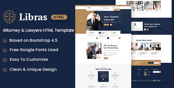 [Free Download] Libras – Attorney & Lawyers HTML Template (Nulled) [Latest Version]