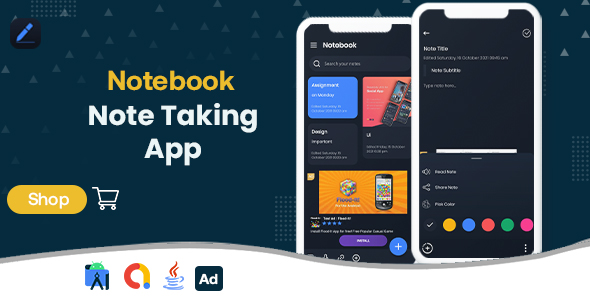 [Free Download] Notebook – Note Taking – Android App with – Admob Ads (Nulled) [Latest Version]