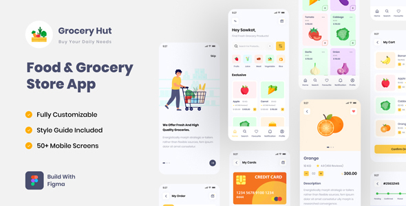 [Free Download] Grocery Hut | Food & Grocery Store App Figma UI Template (Nulled) [Latest Version]