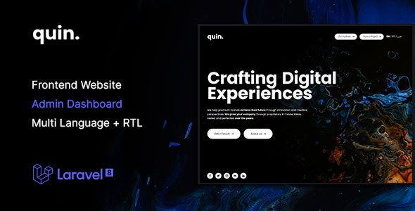 [Free Download] Quin – Multipurpose Website CMS & Creative Agency Management System (Nulled) [Latest Version]
