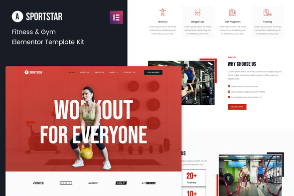 [Free Download] Sportstar – Fitness & Gym Elementor Template Kit (Nulled) [Latest Version]