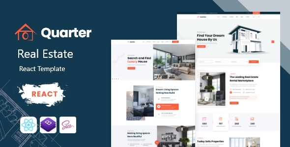[Free Download] Quarter – Real Estate React Template (Nulled) [Latest Version]