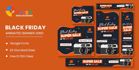 [Free Download] Product Sale Black Friday HTML5 Banner Ads GWD (Nulled) [Latest Version]