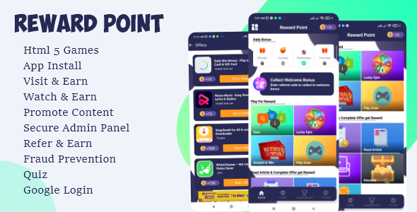[Free Download] Reward Point – Html Games + Custom Offerwall (Nulled) [Latest Version]