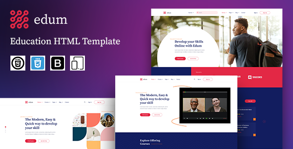 [Free Download] Edum – Education LMS HTML Template (Nulled) [Latest Version]