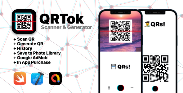 [Free Download] QRTok Generator & Reader  – iOS Full Application (Nulled) [Latest Version]