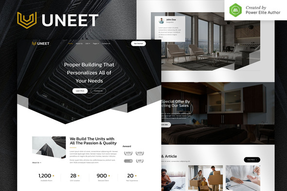 [Free Download] Uneet – Apartment & Single Property Real Estate Elementor Template Kit (Nulled) [Latest Version]
