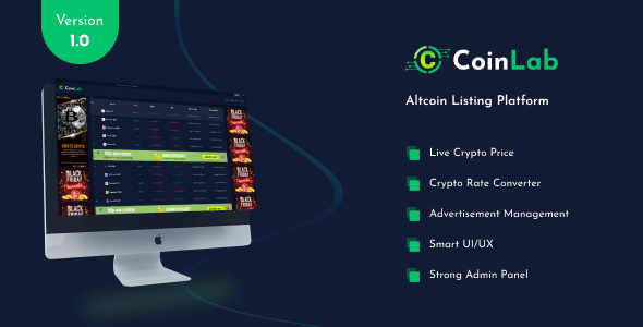 [Free Download] CoinLab – Altcoin Listing Platform (Nulled) [Latest Version]
