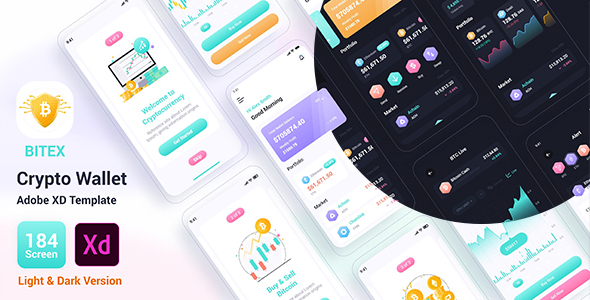 [Free Download] Bitex – Crypto Wallet Adobe XD Template (Nulled) [Latest Version]