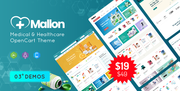 [Free Download] MallOn – Super Fast Medical & Healthcare Stores OpenCart Theme (Nulled) [Latest Version]