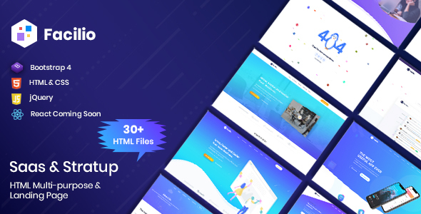 [Free Download] Facilio – Saas & Software HTML Template (Nulled) [Latest Version]