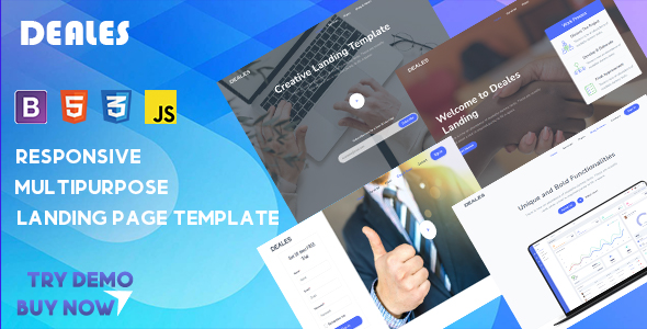 [Free Download] DEALES – Responsive Multipurpose Landing Template (Nulled) [Latest Version]