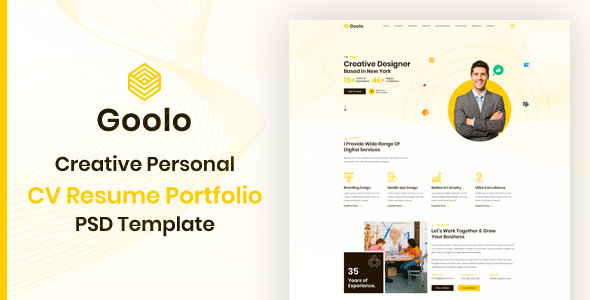 [Free Download] Goolo | Personal Portfolio PSD Template (Nulled) [Latest Version]