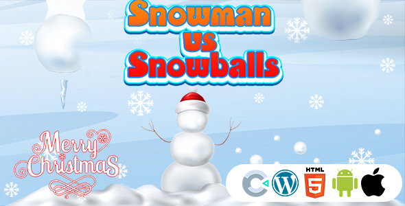 [Free Download] Snowman vs Snowballs Game (Construct 3   C3P   HTML5) Christmas Game (Nulled) [Latest Version]
