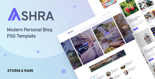 [Free Download] Ashra – Modern Personal Blog Psd Template (Nulled) [Latest Version]
