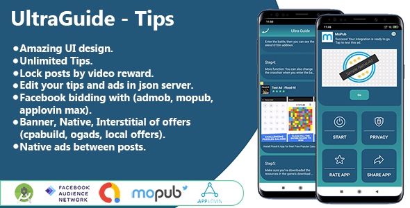 [Free Download] Ultra Guide – Tips – Tricks (Facebook bidiing with Admob – Mopub – Applovin Max – Android Studio) (Nulled) [Latest Version]