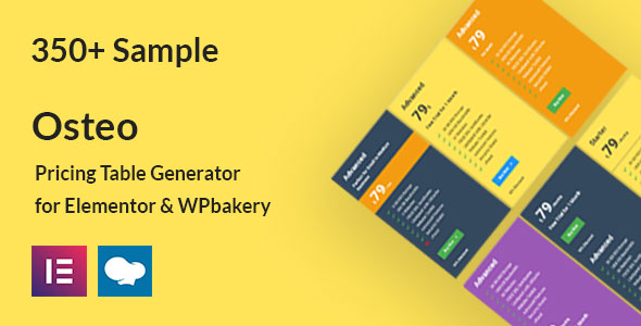 [Free Download] Osteo – Pricing Table Generator for Elementor and WPbakery (Nulled) [Latest Version]