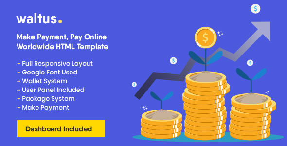 [Free Download] Waltus – Send Money, Receive Online Payment Template (Nulled) [Latest Version]