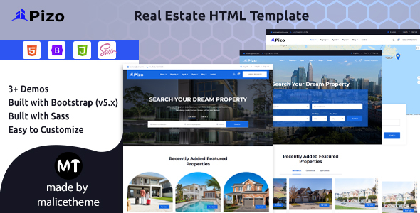 [Free Download] Pizo – Real Estate HTML Template (Nulled) [Latest Version]